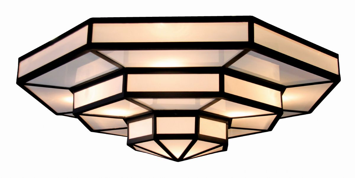 385 White opal ceiling light