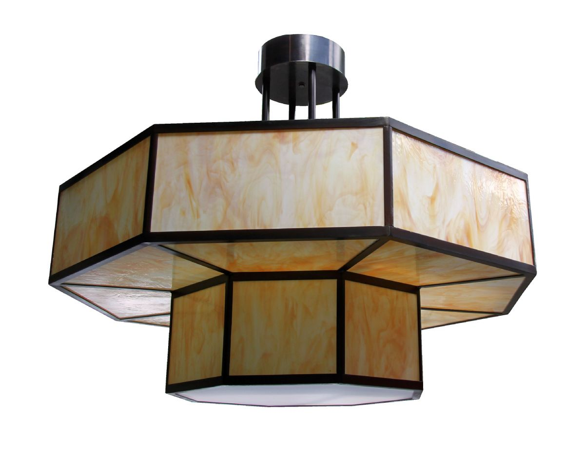 452. Hexagonal Double Tier Pendant
