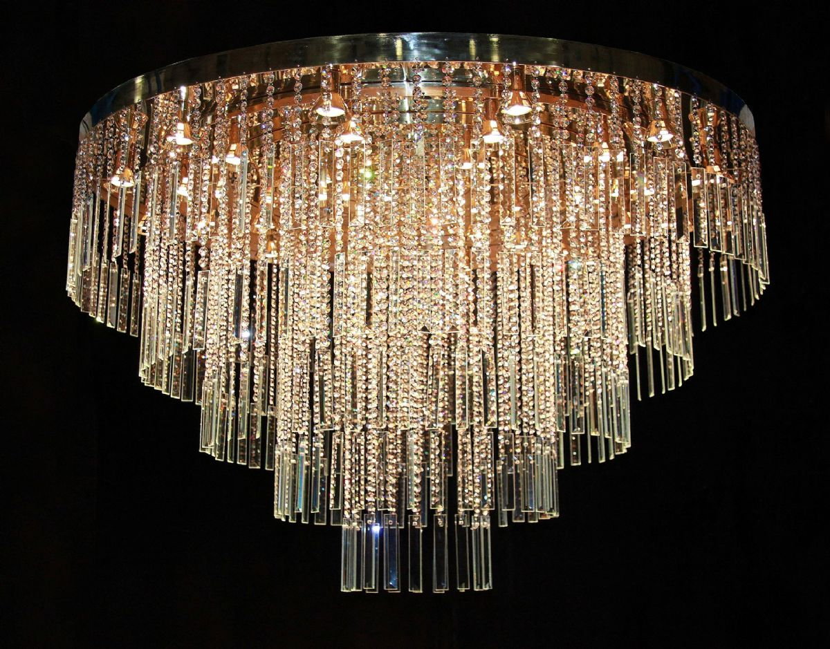 453. Crystal and bevel chandelier 1500mm dia