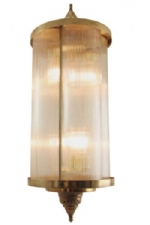 501 Reeded Quad Light Brass