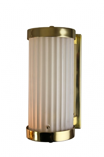 505 Reed Cylinder Wall Light Brass