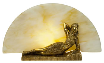 Cleo Brass Statuette Lamp - Small