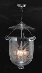 Chrome Fern Lantern Large