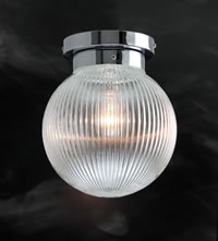 PRISM428 - Prismatic Globe Flush Ceiling Light