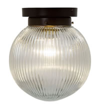 PRISM627 - Prismatic Globe Flush Ceiling Light