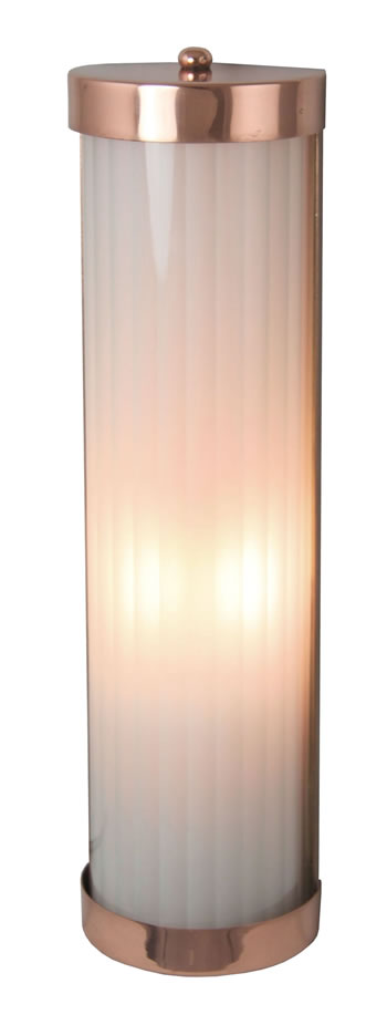 REED423 - Reeded Wall Light Polished Copper
