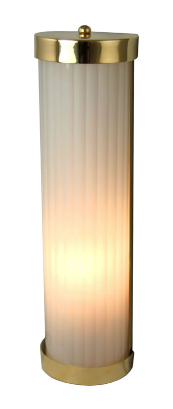 REED424 - Reeded Wall Light Polished Brass