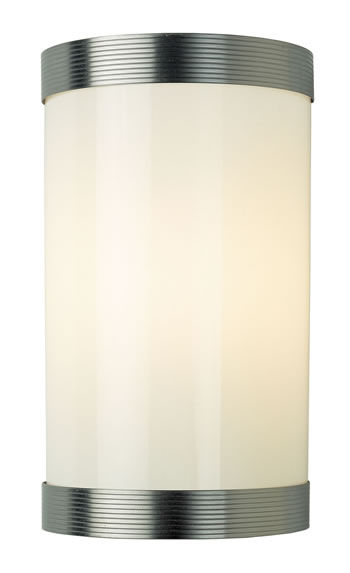 REED864 - Reeded Wall Light Matt Nickel