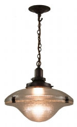 Cross Reeded Pendant - Antique Bronze