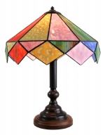 HARL79 - Harlequin Handmade Opal coloured Table Lamp