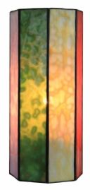 HARL86 - Hand Made Harlequin Opal coloured Wall Light