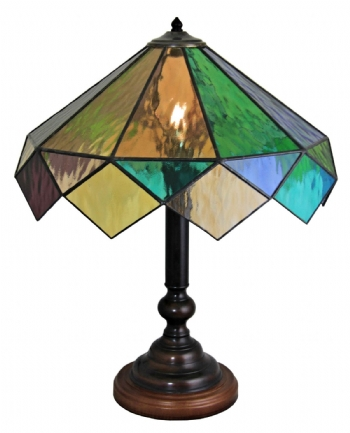 HARL93 - Harlequin Hand made Cathedral Table Lamp