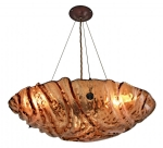 TEXT22 - Hand Made Textured Glass Dish Hanging Uplighter